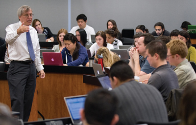 Dean Erwin Chemerinsky teaches an advanced course in constitutional law and procedure at UC Irvine's School of Law.